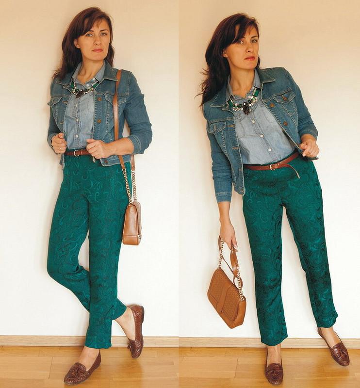 Зеленые брюки от JonikJane