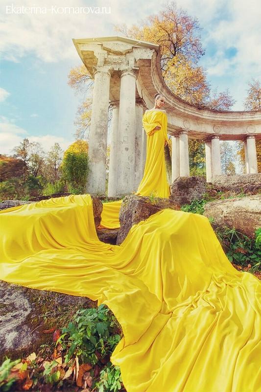 Бесконечное желтое платье! от polina glazkova