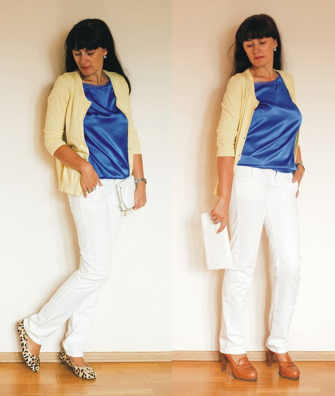 Синяя блуза