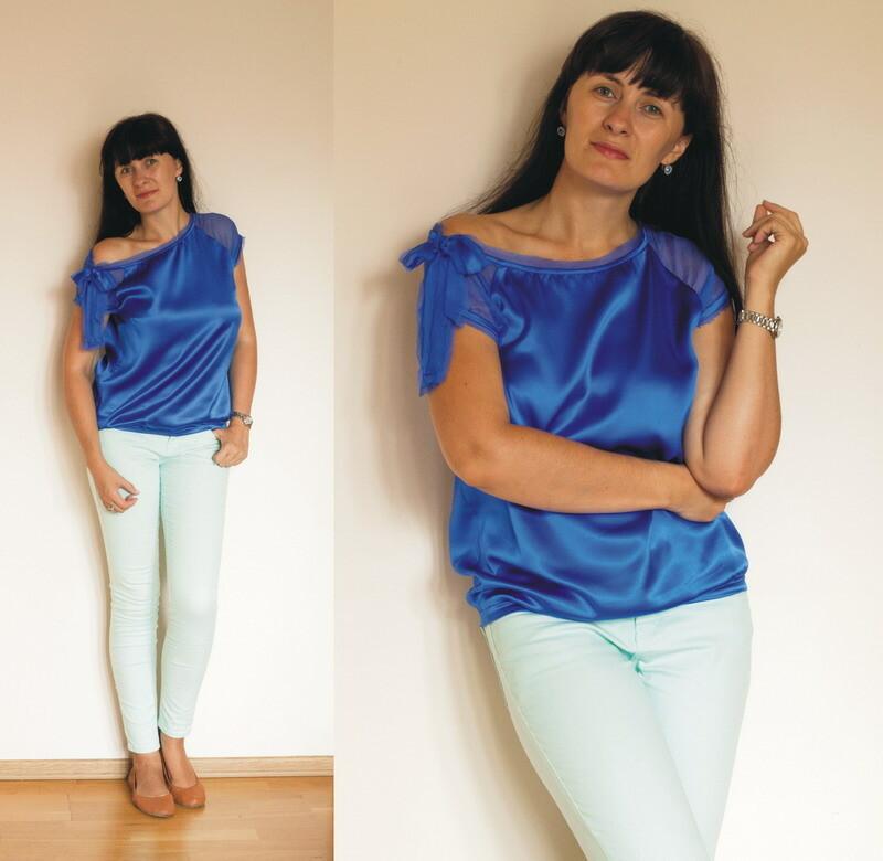 Синяя блуза от JonikJane