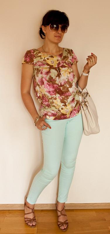 Шелковая летняя блуза