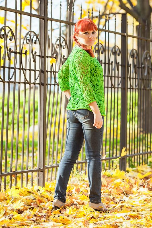 Жакет «Зеленое яблочко» от Дрёмова Ирина
