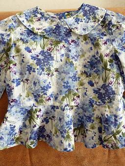 Работа с названием Детская блузка с баской на вырост
