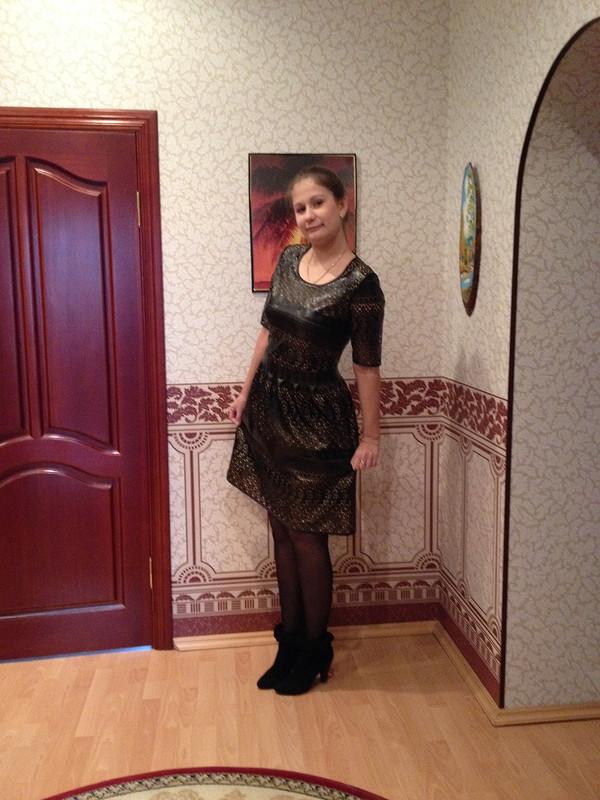 Кожаное платье.