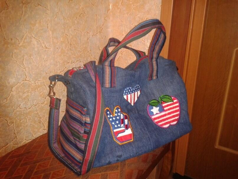 Джинсовая сумка длядочки. от Afina477