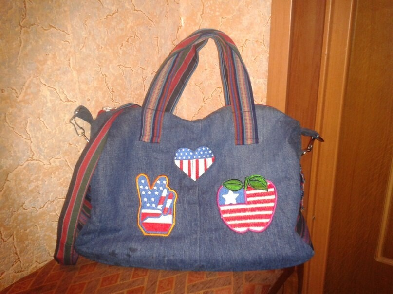 Джинсовая сумка длядочки.