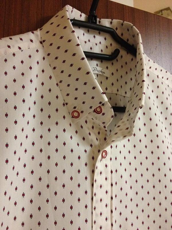 Мужская рубашка подзапонки!
