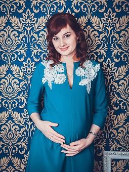 Работа с названием Мой вариант платья для беременных