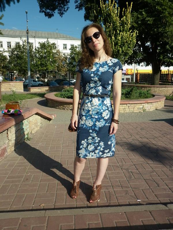 Ретро-горбатое платье