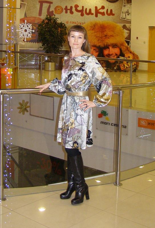 Серое атласное платье от yulishna5