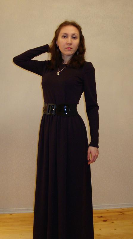 Баклажановое платье