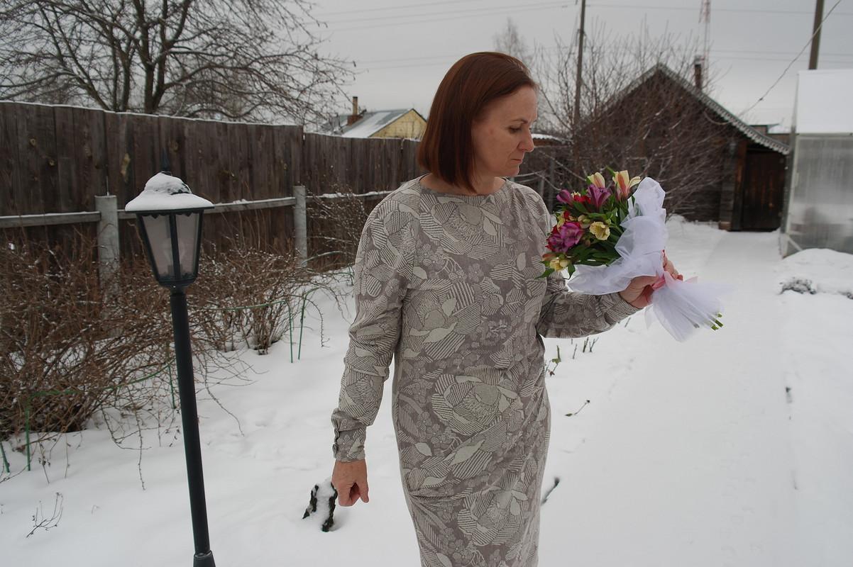 Нежное платье срегланом. от NasGys