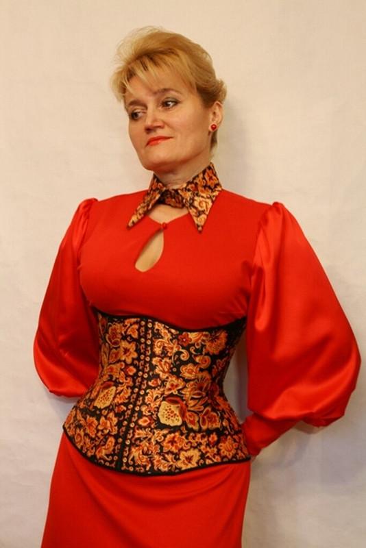 Платье Сударыня-с корсетом исъемным воротником изППП от iskushenie