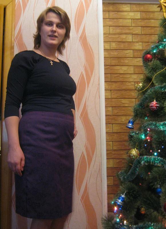 Пуловер+Жаккардовая юбка