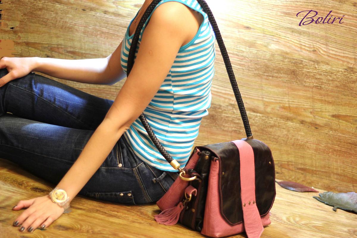 Кожаная фотосумочка + сумочка +... «Тravel» от Ирина Болдырева