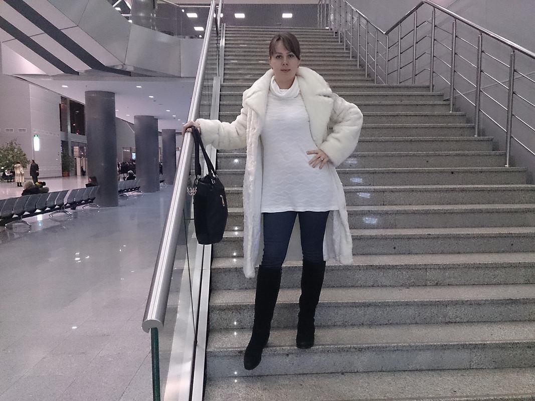 Белый пуловер ибрючки