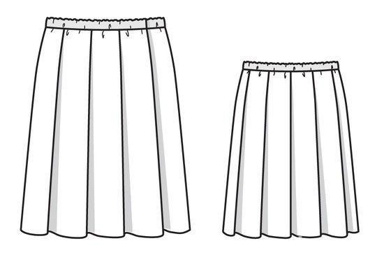 Простая юбка вскладку безвыкройки