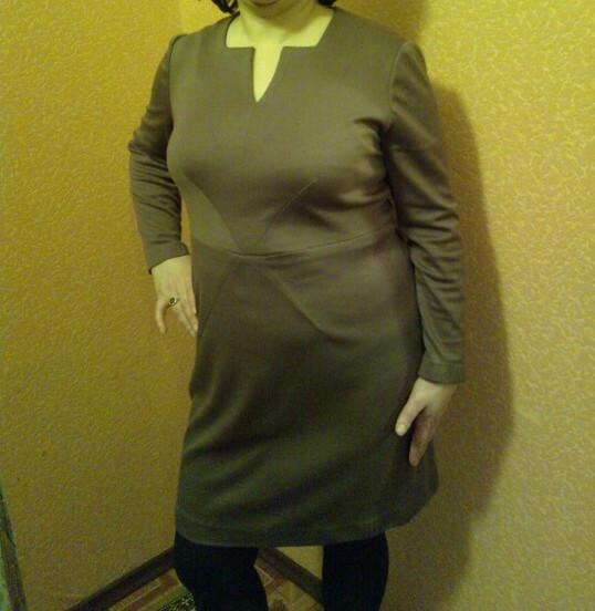 Красивое однотонное платье от Irina_ship
