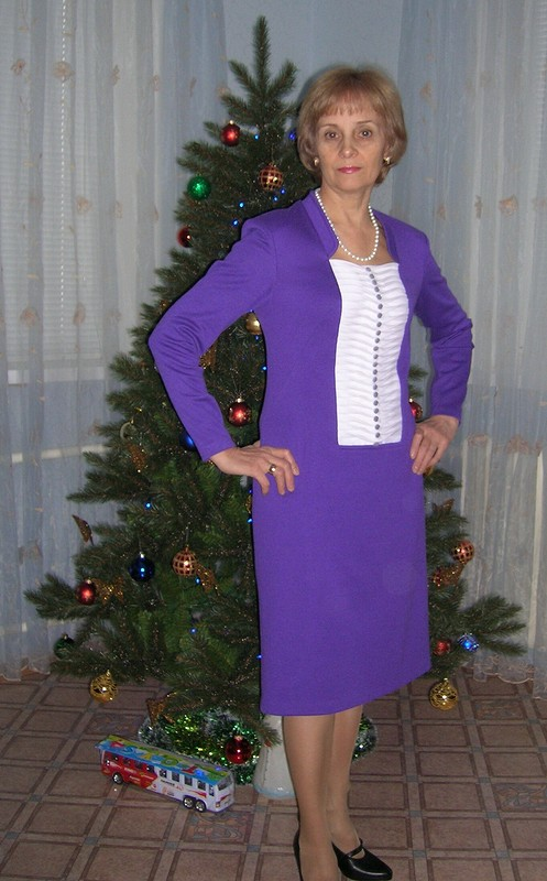 Платье цвета фиалки от Lubo4ka