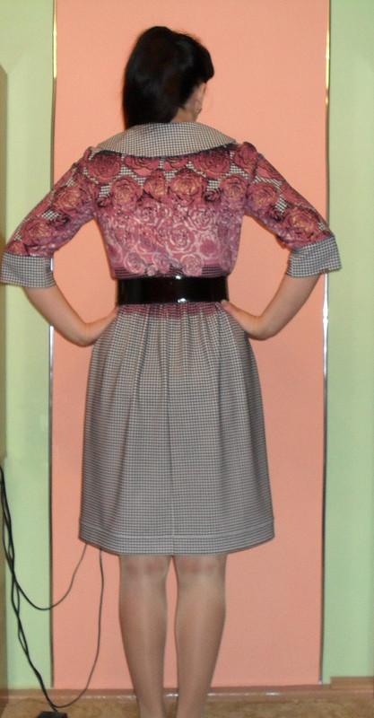 Платье подарок  или куриная лапка вцветах...