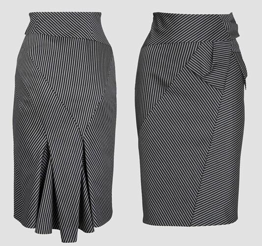 Шерстяная юбка-карандаш.