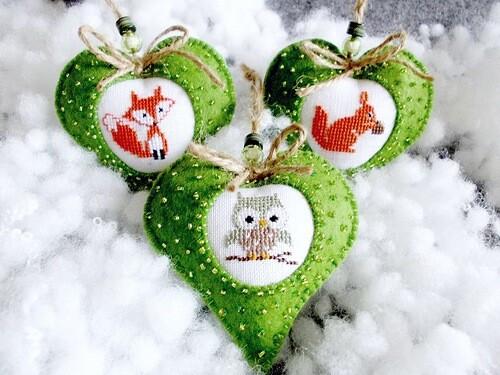 новогодние сердечки