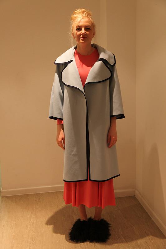 Голубое пальто от Solomka