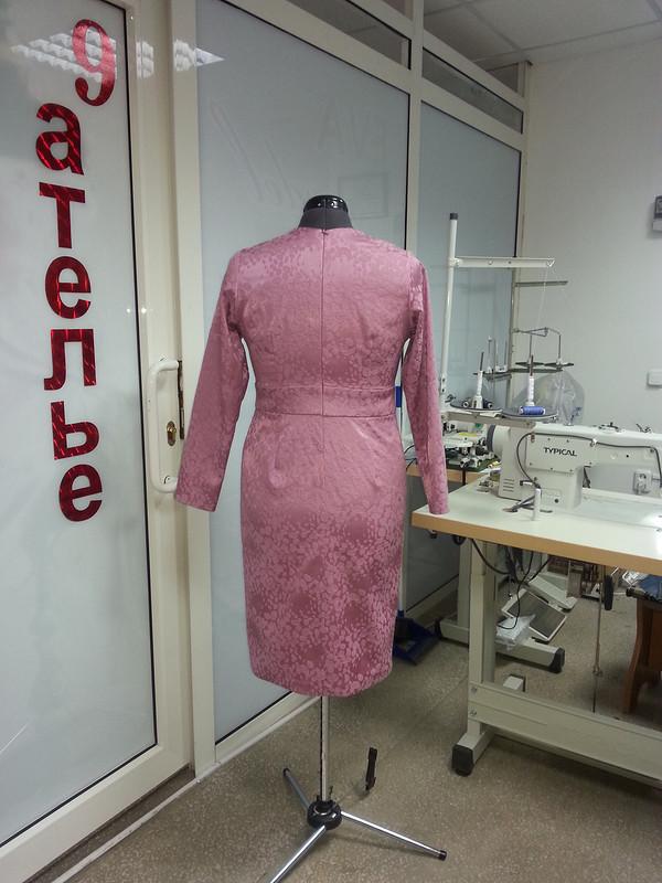 платье скосыми складками от Eva357