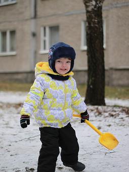 Работа с названием Зимняя куртка для малыша