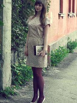 Работа с названием Платье из поплина