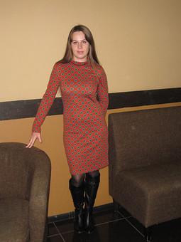 Работа с названием Трикотажное платье а-ля Прада