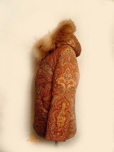 Куртка Русское поле  (из ПП платка Таинственный вечер) от iskushenie