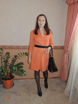 Работа с названием Платье-мандаринка