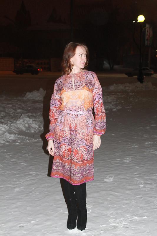 Вечерняя фотосессия или моё «туркменское платье»)))