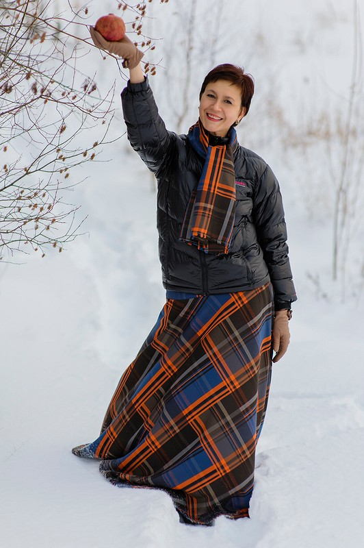 Длинная юбка - полусолнце от politu