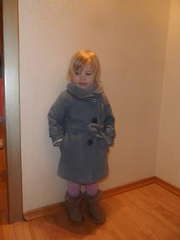Работа с названием Модное пальто для девочки!