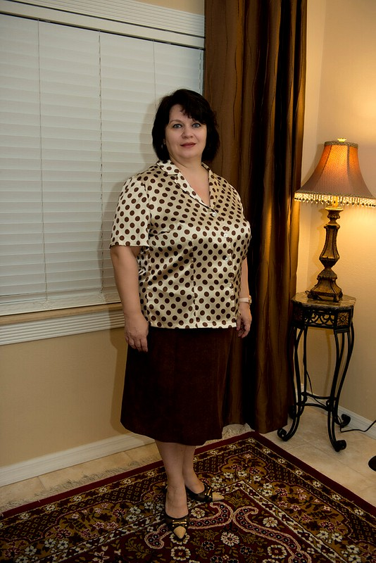 Блузка вгорошек
