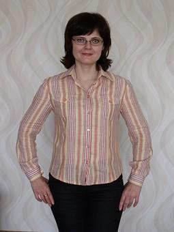 Работа с названием Рубашка в полоску