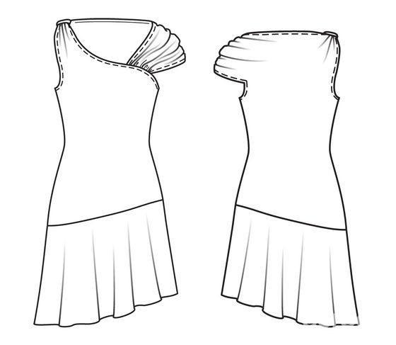 Летнее платье сасимметрией