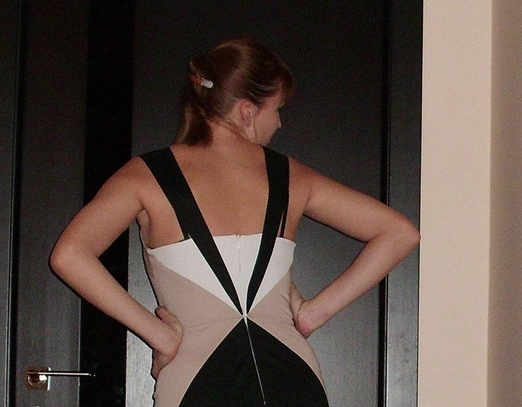 геометричное платье