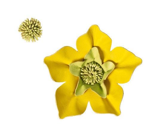 Декоративные цветы изкожи своими руками