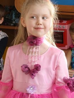 Работа с названием платье цветок фиалки