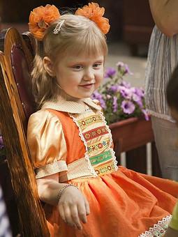 Работа с названием платье в фольклорном стиле на любой праздник