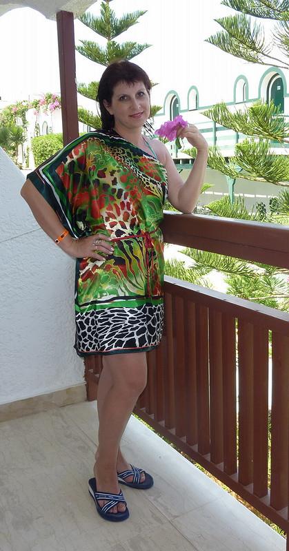 Платье-туника «Краски Мадагаскара»