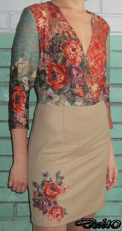 Платье а-ля D&G модель 127 BURDA 12-2012