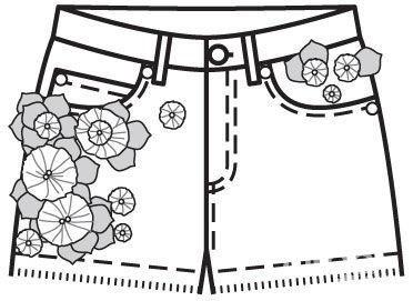 Декорируем шорты изстарых джинсов своими руками