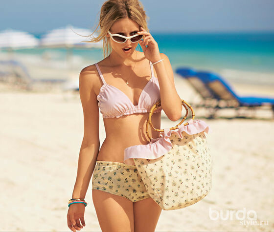 Пляжная сумка встиле 60-х
