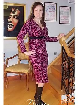 Работа с названием Нарядное платье из вискозного трикотажа