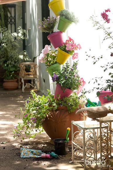 Вертикальный горшечный сад
