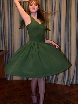 Работа с названием Платье цвета леса